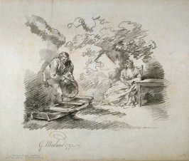 Man and woman in garden setting