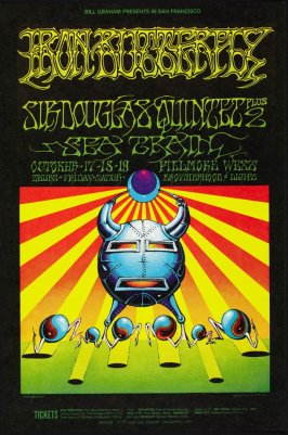 Iron Butterfly, Sir Douglas Quintet, Sea Train, October 17 - 19, Fillmore West