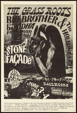 """Stone Facade,"" Grass Roots, Big Brother & the Holding Company, Buddha from Muir Beach, June 3 & 4, Avalon Ballroom"