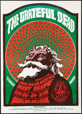 """Hippie Santa Claus,"" Grateful Dead, Steve Miller Band, Moby Grape, December 23 & 24, Avalon Ballroom"