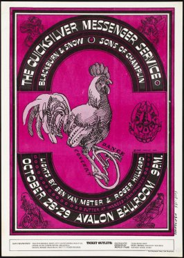 """""""The Chicken on the Unicycle,"""" Quicksilver Messenger Service, Blackburn & Snow, Sons of Champlin, October 28 & 29, Avalon Ballroom"""