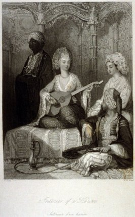 Interior of a Harem, from Fisher's Illustrations of Constantinople and Its Environs