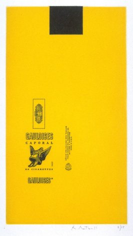 Gauloises Bleues (Yellow with Black Square)