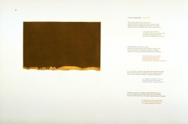 To the Paintbrush/ Al pincel, page in the unbound book A la pintura/ To Painting