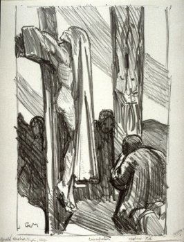 Crucifixion, sixth plate from the portfolio Sketches Made on the Lithography Night 14 April 1905 by Members of the Art Workers Guild, Clifford Inn Hall and Published for the Benefit of the Chest