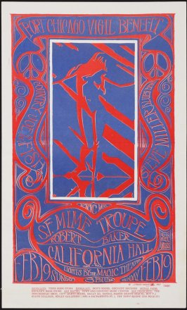"""""""Port Chicago Vigil Benefit"""", Country Joe & the Fish, Steve Miller Blues Band, S.F. Mime Troupe, Robert Baker, February 19, California Hall"""