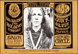 """James Gurley,"" Big Brother and the Holding Company, Quicksilver Messenger Service, Oxford Circle, February 17 & 18, Avalon Ballroom"
