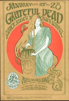 """Girl in the Red Circle,"" Grateful Dead, Quicksilver Messenger Service, January 27 & 28, Avalon Ballroom"