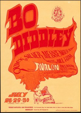 """Voice of Music,"" Bo Diddley, Quicksilver Messenger Service, July 28 - 30, Avalon Ballroom"
