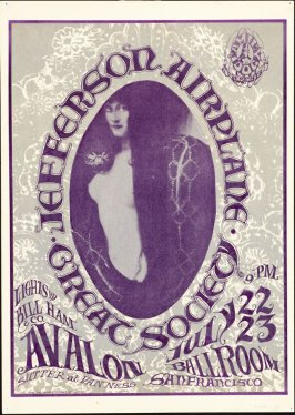 """Snake Lady,"" Jefferson Airplane, Great Society, July 22 & 23, Avalon Ballroom"
