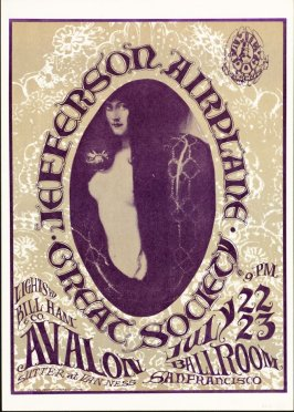 """Snake Lady,"" Jefferson Airplane; Great Society, July 22 & 23, Avalon Ballroom"