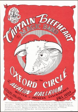 """Red Bull,"" Captain Beefheart & His Magic Band, Oxford Circle, June 17 & 18, Avalon Ballroom"
