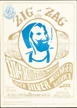 """Zig-Zag Man,"" Big Brother & the Holding Company, Quicksilver Messenger Service, June 24 & 25, Avalon Ballroom"