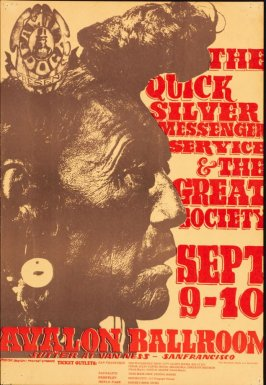 """Indian,"" Quicksilver Messenger Service, Great Society, September 9 & 10, Avalon Ballroom"