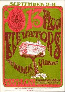 """Tree House,"" 13th Floor Elevators, Sir Douglas Quintet, September 2 & 3, Avalon Ballroom"