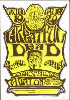 """Frankenstein"",  Greatful Dead (sic); Sopwith Camel, August 19 & 20, Avalon Ballroom"