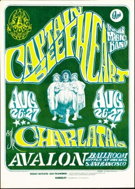 """Captain Beefheart,"" Captain Beefheart and His Magic Band, Charlatans, August 26 & 27, Avalon Ballroom"