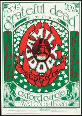 """Logo,"" Grateful Dead, Oxford Circle, November 4 & 6,  Avalon Ballroom"