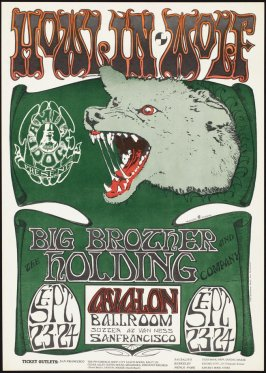 """ Howlin' Wolf,"" Howlin' Wolf, Big Brother and the Holding Company, September 23 & 24, Avalon Ballroom"