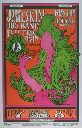 """The Woman with Green Hair,"" Jim Kweskin Jug Band, Big Brother and the Holding Company, Electric Train, October 7 & 8, Avalon Ballroom"