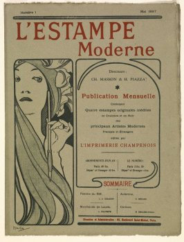Cover of the album L'estampe moderne, no. 1, May 1897