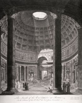 The Inside of the Pantheon in Rome