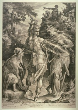 Minerva Giving Arms to Perseus, Mercury Fastening the Wings at his Feet