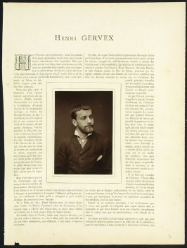 Henri Gervex from the journal Galerie contemporaine, littéraire, artistique