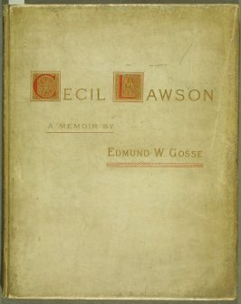 Cecil Lawson: A Memoir by Edmund W. Gosse (London: The Fine Art Society, 1883)