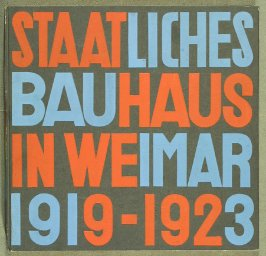 Cover, in the book Staatliches Bauhaus Weimar, 1919 - 1923 by Walter Gropius (Munich: Bauhausverlag, 1923)