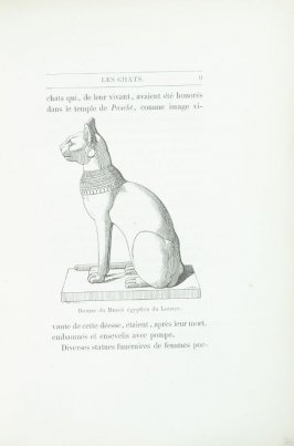 """Bronze du Musée égyptien du Louvre,"" pg. 9, in the book Les Chats (Cats) by Champfleury (Paris: J. Rothschild, 1870)."