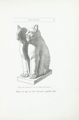 """Boîte de momie de chat du Musée du Louvre,"" pg. 13, in the book Les Chats (Cats) by Champfleury (Paris: J. Rothschild, 1870)."