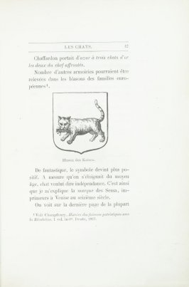 """Blason des Katzen,"" pg. 47, in the book Les Chats (Cats) by Champfleury (Paris: J. Rothschild, 1870)."