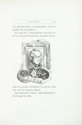 """Chateaubriand,"" pg. 119, in the book Les Chats (Cats) by Champfleury (Paris: J. Rothschild, 1870)."