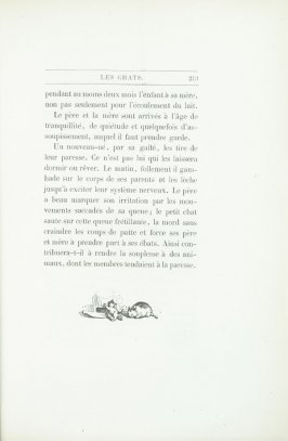 """""""Croquis de chats"""", end device pg. 213, in the book Les Chats (Cats) by Champfleury (Paris: J. Rothschild, 1870)."""