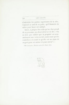"""Croquis de Mind,"" end device pg. 226, in the book Les Chats (Cats) by Champfleury (Paris: J. Rothschild, 1870)."