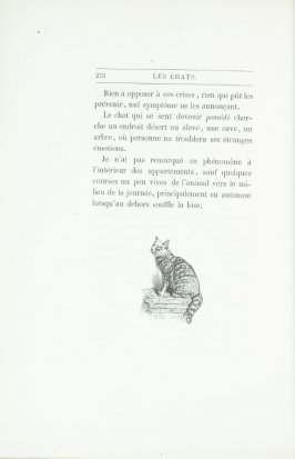 """Croquis de chat, d'après nature,"" end device pg. 272, in the book Les Chats (Cats) by Champfleury (Paris: J. Rothschild, 1870)."