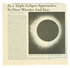 As a Triple Eclipse Approaches So Does Wonder and Fear