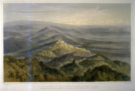 View from the Tower of Melibocus towardds Heidelberg..., plate1 in part1 of the book Pictorial and Descriptive Sketches of the Odenwald ([London]: William Robert and Lowes Dickinson, ca.1848?)