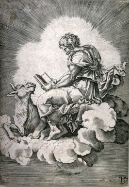 St. Luke, copy after the engraving by Agostino Veneziano after Giulio Romano