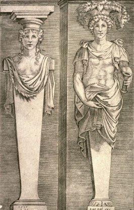 Young Women, after an engraving by Agostino Veneziano