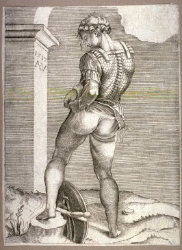 Soldier Attaching His Breeches to his Breastplate, after a drawing by Michelangelo