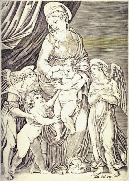 The Virgin with the Infant Christ, infant St. John and two Angels, after Francesco Francia (?)