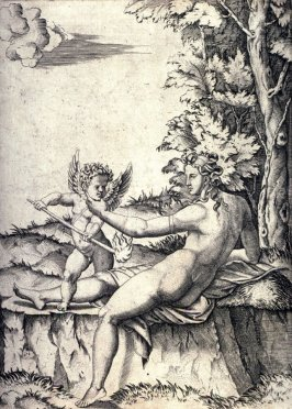 Venus and Eros, after Giulio Romano
