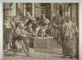 The Blinding of Elymas, after Raphael designs for the tapestry for the Sistine Chapel, Vatican City
