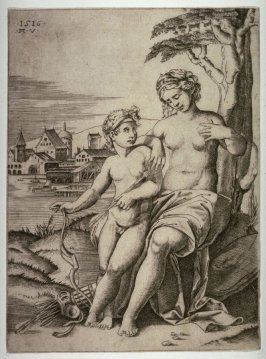Venus Wounded by Cupid's Dart, after the design by Raphael for the Stufetta of Cardinal Bibbiena, Vatican Palace, Vatican City