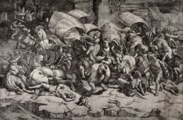 The Battle With A Cutlass, after an engraving attributed to Marco Dente after Giulio Romano