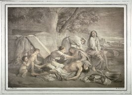 [Lamentation scene] One of Two lithographs