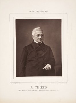 Adolphe Thiers from the journal Galerie contemporaine, littéraire, artistique