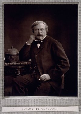 Portrait of the writer Edmond de Goncourt